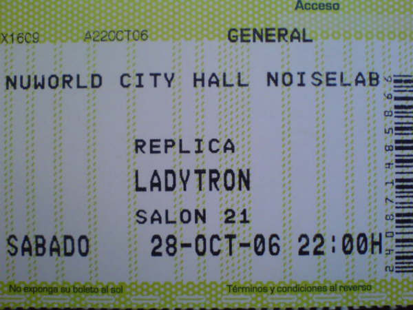 Ladytron ticket